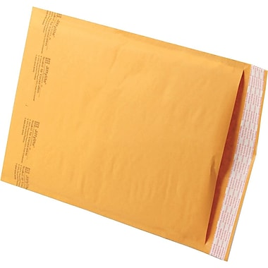 Jiffylite Kraft Bubble Padded Self Seal Mailer #4, 9-1/2in. x 13in., 100/Case