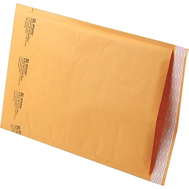 Jiffylite Kraft Bubble Padded Self Seal Mailer #00, 5in. x 9in., 250/Case