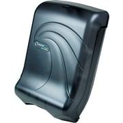 San Jamar® Large Capacity Ultrafold Towel Dispenser, Plastic, Transparent Black Pearl (T1790TBK)