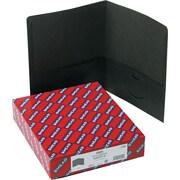 Smead Two Pocket Portfolios, Black, 25/Bx