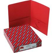 "Smead Two Pocket Portfolios, Red, 1/2"" Capacity, 11"" x 8 1/2"", 25/Bx"