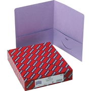 "Smead Two Pocket Portfolios, Lavender, 8 1/2"" x 11"", 25/Bx"