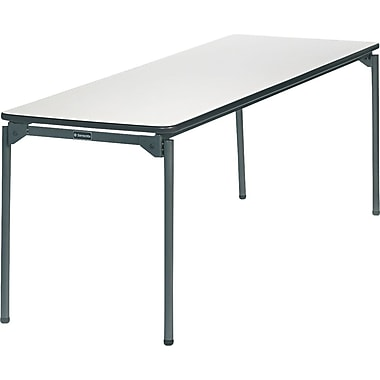 Samsonite 6' Commercial-Grade Resin Folding Banquet Table, Off White