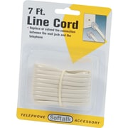 Softalk® Telelphone Extension Cord, Plug/Plug, 7ft. Ivory