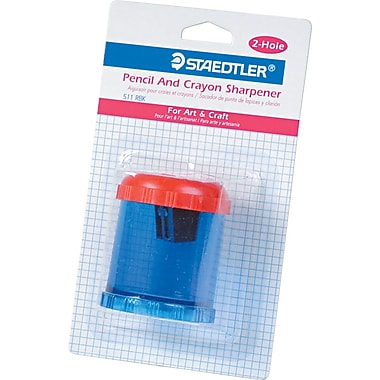 Staedtler® Handheld Manual Pencil and Crayon Sharpener, Blue, Each