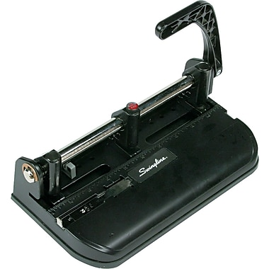 Swingline® Lever-Handle Heavy-Duty 2- to 7-Hole Punch, 15 Sheet Capacity