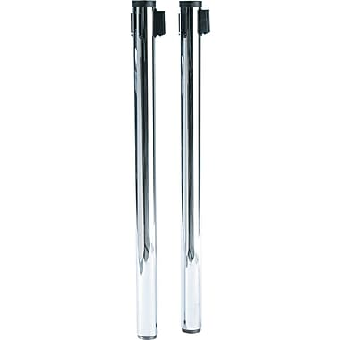 Tatco Adjusta-Tape Crowd Control Stanchion Posts, Nylon, 40in. High, 2/Box