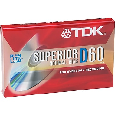 TDK Audio Cassette, Standard Size, Normal Bias, 60 Minutes (30 x 2)