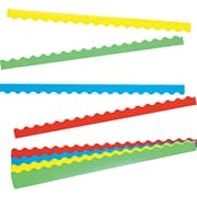 """TREND® Terrific Trimmers® Solid Colors Board Trim, 156 ft x 2 1/4"""", Assorted, 1/Set (T9001)"""