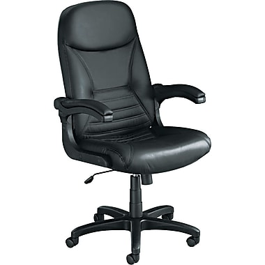 Tiffany Industries™ Big & Tall Leather Executive Swivel/Tilt Chair with Pivot Arms, Black
