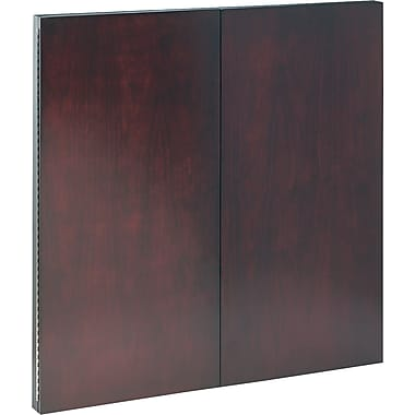 Tiffany Industries Dry-Erase Magnetic Presentation Board, Cloth/Steel, 48 X 48, Mahogany Frame