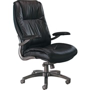 Tiffany Industries Leather Seating Series Executive High Back Swivel/Tilt Chair, Black
