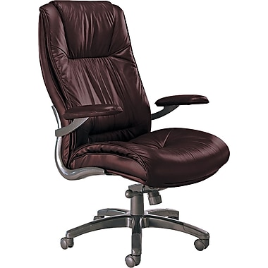 Tiffany Industries Leather Seating Series Executive High Back Swivel/Tilt Chair, Burgundy