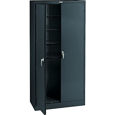 Tennsco Steel Storage Cabinet, Black, 78in.H x 36in.W x 18in.D