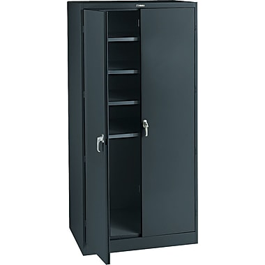 Tennsco Steel Storage Cabinet, Black, 78in.H x 36in.W x 24in.D