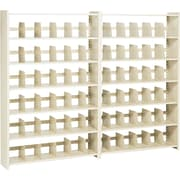 "Add-on Unit for Snap-Together Open Shelving, 6-Shelves, 76""H x 48""W"