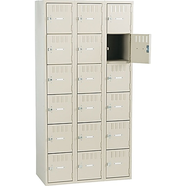 Tennsco Box Locker, 72in.H x 36in.W x 19in.D, Sand