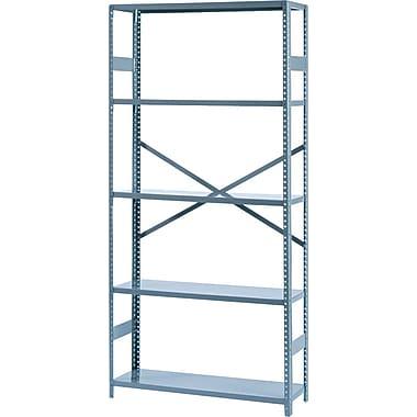 Tennsco Commercial Steel Shelving, 5 Shelves, Gray, 75