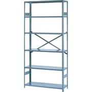 "Tennsco Commercial Steel Shelving, 6 Shelves, Gray, 75""H x 36""W x 12""D"
