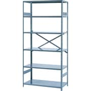 "Tennsco Commercial Steel Shelving, 6 Shelves, Gray, 75""H x 36""W x 18""D"