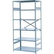 Tennsco Commercial Steel Shelving, 6 Shelves, Gray, 75H x 36W x 24D