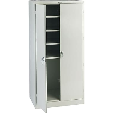 Tennsco Steel Storage Cabinet, Light Gray, 78in.H x 36in.W x 24in.D