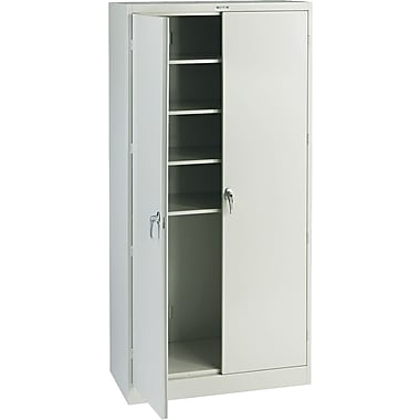 Tennsco Steel Storage Cabinet, Light Gray, 78in.H x 36in.W x 18in.D