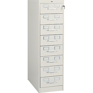 Tennsco 8-Drawer Multi Media Card File for 3x5 & 4x6 Cards, Putty