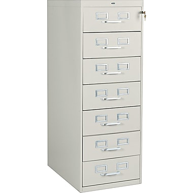 Tennsco 7 Drawer Vertical File, Putty/Beige,Specialty, 19''W (110249)