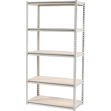 Tennsco Stur-D-Stor Boltless Steel Shelving, 5 Shelves, Sand, 72