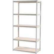 Tennsco Stur-D-Stor Boltless Steel Shelving, 5 Shelves, Sand, 72H x 36W x 18 1/2D