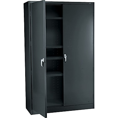Tennsco 78in. High Jumbo Storage Cabinet, 78in.H x 48in.W x 24in.D, Black