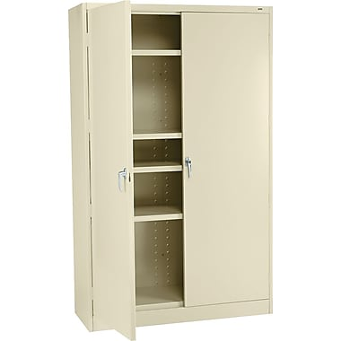 Tennsco 78in. High Jumbo Storage Cabinet, Putty, 78in.H x 48in.W x 24in.D