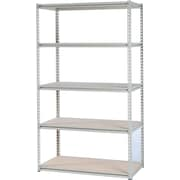 Tennsco Stur-D-Stor Boltless Steel Shelving, 5 Shelves, Sand, 72H x 36W x 24D