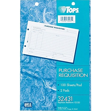 Tops Purchase Requisition, 5-1/2in. x 8-1/2in., 1 Part