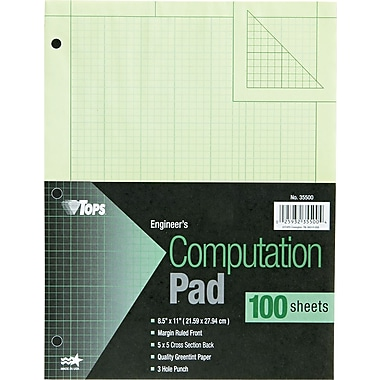 Engineering Computation Pad, 8 1/2in. x 11in.