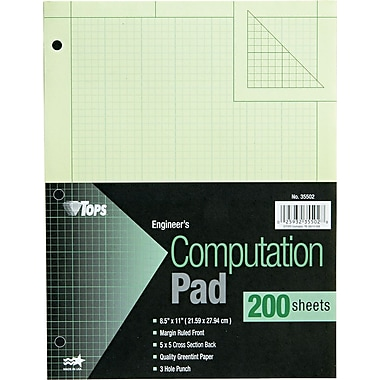 Engineering Computation Pad, 8-1/2in. x 11in.