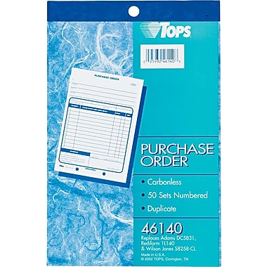 Tops® Purchase Order Books, Consecutively Numbered