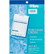 "Tops® Purchase Order Books,5-9/16"" x 8-7/16"", 2 Part"