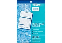 Tops® Purchase Order Books,5-9/16' x 8-7/16', 2 Part