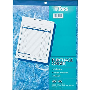 Tops Purchase Order Books, 8-1/2in. x 11in., 2 Part