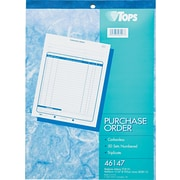 "Tops® Purchase Order Books, 8-1/2"" x 11"", 3 Part"