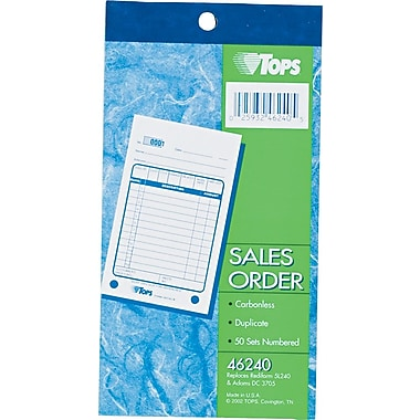 Tops Sales Slip Book, 3-5/8in. x 6-3/8in., 2 Part