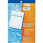 "Tops® Receiving Record Book, 5-1/2"" x 7-7/8"", 3 Part"