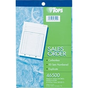 "Tops® Carbonless Sales Order Books, 5-1/2"" x 7-7/8"", 2 Parts"