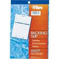 Tops Carbonless Packing Slip Books, 5-1/2in. x 7-7/8in., 3 Part