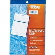 Tops® Carbonless Packing Slip Books, 5-1/2 x 7-7/8, 3 Part
