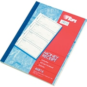 "Tops® Carbonless Money & Receipt Books, 2-3/4"" x 7-1/4"", 2 Part"