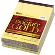 Docket® Gold Notepad, Legal Rule, Canary, 20 lb, Rigid Back, 50 Sheets/Pad, 12 Pads/Pack, 8-1/2in. x 11-3/4in.