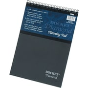 "Docket® Diamond, Premium Stationery Wirebound Tablet, White, 60 Sheets/Pad, 8-1/2"" x 11-3/4"""